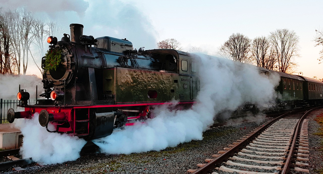Steam Locomotive Smoke Railway