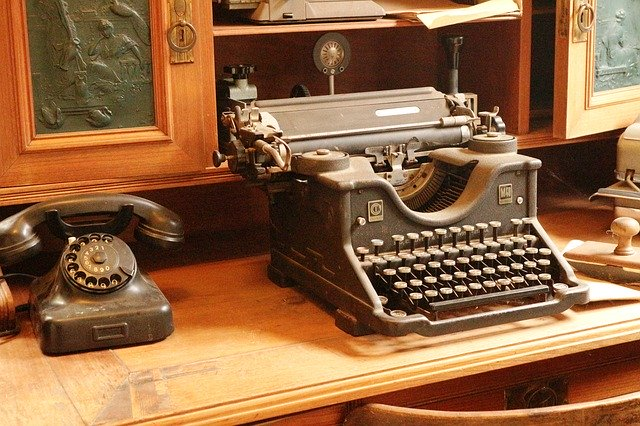 Typewriter Telephone Antique Old