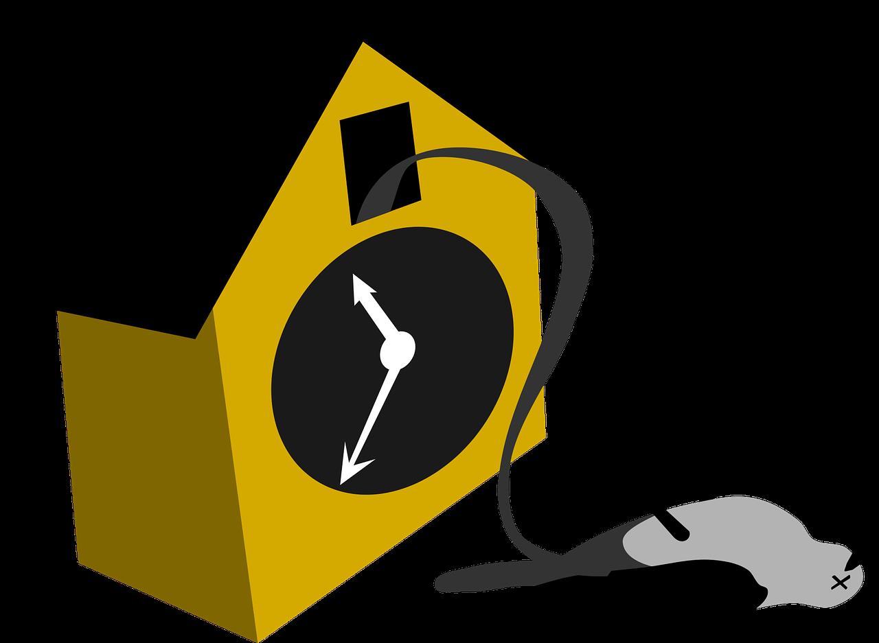 Caricature Cartoon Clock Cuckoo  - OpenClipart-Vectors / Pixabay